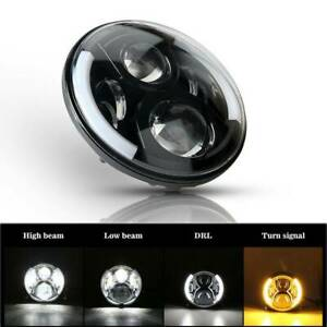7 Inch Led Headlight Projector Halo Motorcycle For Harley Cafe Racer Bobber Dyna