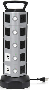SUPERDANNY Power Strip Tower SDD005 5 Surge Protector 18 Outlet Plugs with 4.2A $58.77