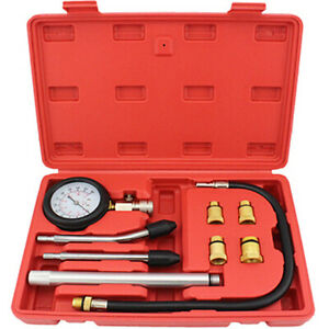 Compression Gauge Kit Engine Cylinders Diagnostic Tester Kit M10 To M18 W Tube