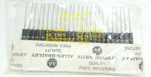 Allen Bradley 10 Ohm 1 Watt 5 Carbon Composition Resistors Rc32gf100j 25 Pcs