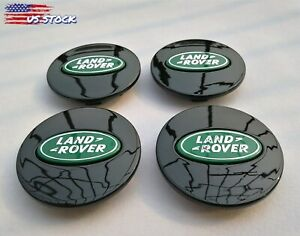 set Of 4 2 5 Black green Land Rover Wheel Center Caps 63mm Fit Range Rover