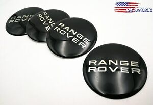 4pcs 2 56 Black Wheel Center Hub Caps Emblem Badge 3d Decal For Range Rover