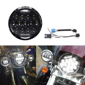 7 Inch Motorcycle Headlight Round Cree Led Projector For Harley Cafe Racer