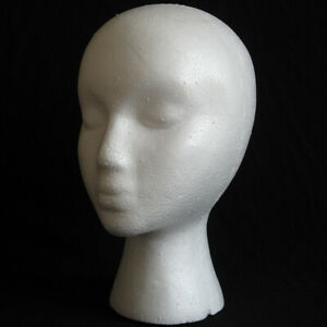 Mannequin Head Model Wig Hat Scarf Glasses Jewelry Display Stand 28cm Foam New