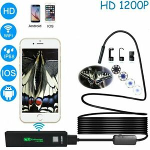 Wireless Endoscope Inspection Camera Waterproof Borescope 1200p For Android Ios