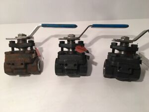 1 2 Ball Valve lot Of 3 Fh 810n 600 Industrial Graphite Rs408 Valve A105n