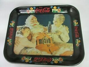 VINTAGE ADVERTISING 1981 COKE COCA COLA XMAS SANTA SERVING TRAY   M-687