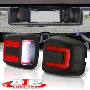 Red Tube Smd Led License Plate Lights Lamps Pair For 2007 2019 Nissan Frontier