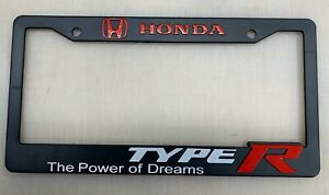 For Honda Civic Integra Type R The Power Of Dream Jdm Racing License Plate Frame