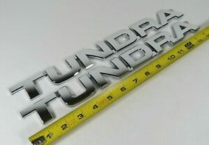 Toyota Tundra Emblems 07 13 Door Tailgate Chrome Badge Sign Symbol Logo Name