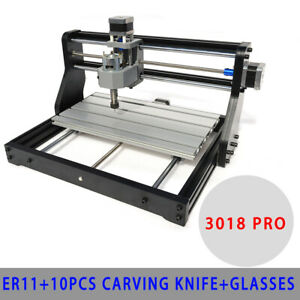 Mini Cnc 3018 Pro Engraver Machine Pcb Wood Carving Diy Milling 500mw Laser Er11