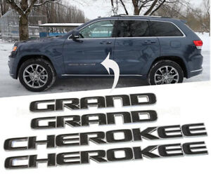 Black Cherokee Door Emblem Badge Fit 2017 2020 Jeep Grand Cherokee Oem Mopar