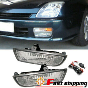Fit 1997 2001 Honda Prelude Chrome Driving Bumper Fog Lights Lamps Wiring Switch
