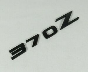 Nissan 370z Emblem 09 20 Rear Trunk Matte Black Badge Back Sign Symbol Logo