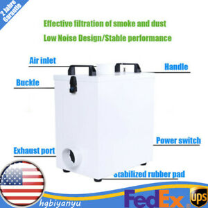 Air Smoke Extractor Fume Filter Purifier Pure For Cnc Laser Engraving Machine Us