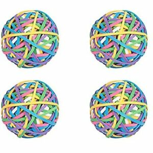 4 Rolls 200 Pcs roll Elastic Rubber Band Balls Rainbow Colorful Stretchable For