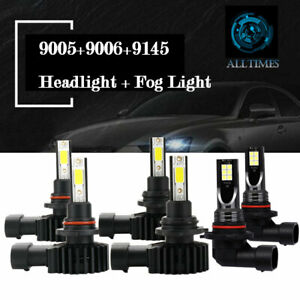 For Chevy Silverado 1500 2500 Hd 2004 2006 Led Headlight Fog Light Bulbs Combo B