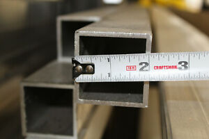 2 x 2 x 1 8 Wall X 12 Long Aluminum Square Tube 6063 T52 Extruded