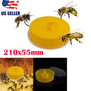 Bee Water Feeder Round Plastic Hive Entrance Drinking Bowl Beekeeping Supplies