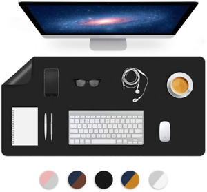 Dual sided Desk Mat Pu Leather Blotter Pad For Desktop On Top Of Office Computer