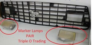 1975 1976 1977 1978 Ford Mustang Ii Oem Turn Signals Pair Grill