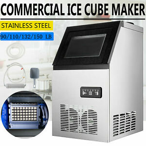 110v Built in Ice Maker Bar Restaurant Undercounter Freestand Ice Cube Machine