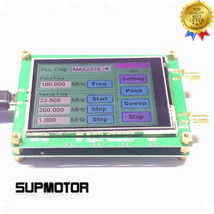23 5 6000m Rf Signal Generator 0 5ppm Low Noise Frequency Sweep Touch Screen