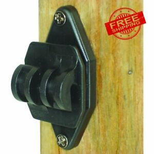 Electric Fence Insulators Wood Post Nail Black 100 Pack Heavy Duty Plastic