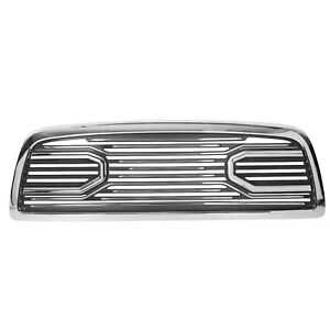 Big Horn Chrome Black Packaged Grille replacement Shell For 09 12 Dodge Ram 1500