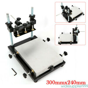 Manual Solder Paste Printer pcb Smt Stencil Printer 300x240mm Printing Table