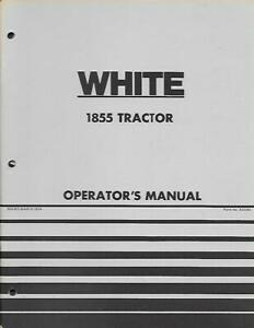 White 1855 Tractor Operators Manual Oliver