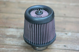 K n Rx 4960 Universal X stream Clamp on Air Filter Cone used Less Than 10k Miles