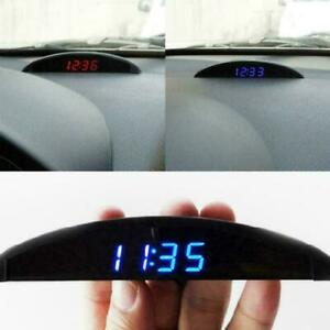 12v Digital Led Alarm Auto Electronic Car Clock Voltmeter Thermometer 3 In 1