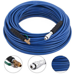 1 4 200ft Carpet Cleaning Solution Hose High Pressure 3000psi Cleaner Wand Cuff
