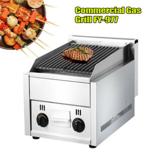 Gas Griddle Grill Barbecue Bbq Cooking Char Broiler Liquefied Petroleum Gas