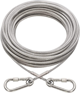 Xiaz Dog Runner Tie Out Cable Dog Leash Run Trolley Training Lead Steel Wire Pe