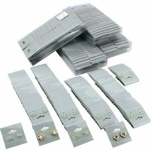 500 Plain Gray Earring Hanging Cards Display Jewelry