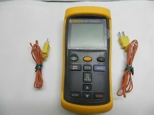 Fluke 52 Ii Dual Input Digital Thermometer With Two Thermocouples