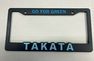 Takata Go For Green Pair Illest Fatlace Bride Seat Belt License Plate Frame Jdm