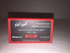 Snap On Mt2500 Fast Track Trouble Shooter Cartridge Gm Chrysler Ford Jeep
