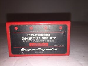 Snap On Mt2500 Diagnostics Primary Cartridge Gm Chrysler Ford Jeep