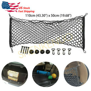 Rear Trunk Bed Pickup Envelope Style Cargo Net For Chevy Silverado Gmc Sierra