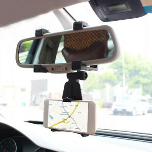 Car Rear View Mirror Mount Stand Holder Cradle For Cell Phone Iphone Accessories