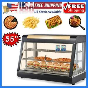 35 3 tier Commercial Food Pizza Warmer Cabinet Counter top Heated Display Case