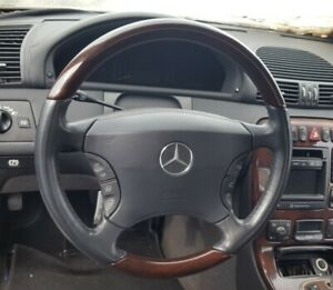 2000 2006 Mercedes Benz W215 W220 Cl Class S Class Wood Leather Steering Wheel