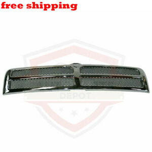 New Grill Grille Chrome Frame For 94 02 Dodge Ram 1500 W O Sport Model Ch1200178