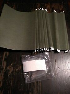 Hanging File Folders Letter Size Lot Of 25 W tabs