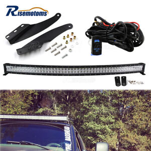 Roof 52 Led Light Bar Mount Brackets Switch Kit For Chevy Suburban C1500 Gmc