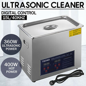 Commercial 15l Ultrasonic Cleaner Cleaning Machine Industry Heated W Timer