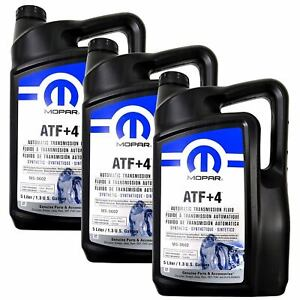 Mopar 68218058ac Atf 4 Automatic Transmission 1 3 Gal Fluid 1 Case 3 In Total